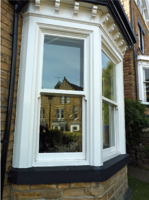 Our secondary glazing is unobtrusive, and doesn't spoil the look of the original window