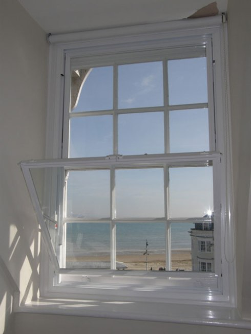 When the sun DOES shine, open up your secondary glazing, let the fresh air in!