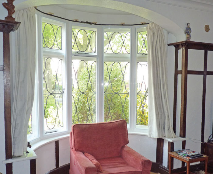 Clearview's secondary glazing is ideal for curved bay windows.