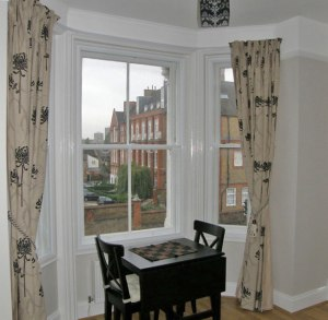 Secondary glazing on a renovated Victorian bay window