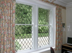 The leaded lights are still the eye catching feature of this window after having secondary glazing installed.