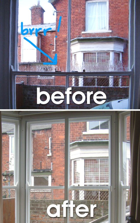 Clearview secondary glazing - makes a real difference to the temperature in your home.